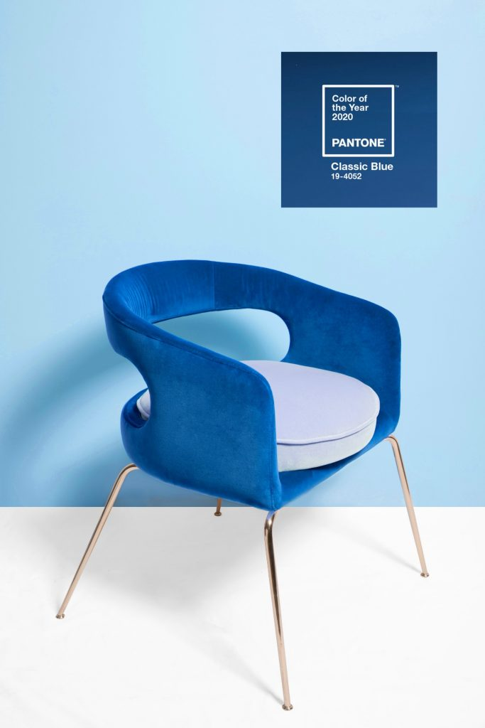 Furniture Essential Home Pantone Classic Blue Dining Chair